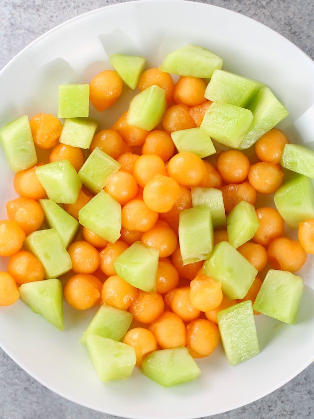 Honeydew and melon on a plate