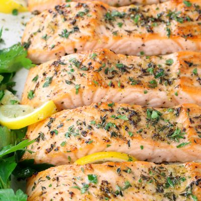 Baked Lemon Pepper Salmon (Gluten Free)