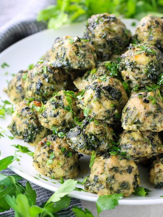 Spinach Feta Chicken Meatballs (Meal Prep)