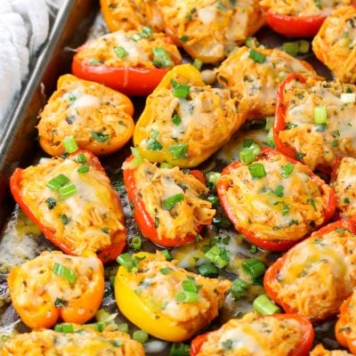 Buffalo Chicken Baby Bell Peppers