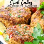 crab cakes on a platter