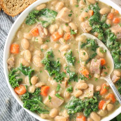 Instant Pot White Bean Soup with Kale