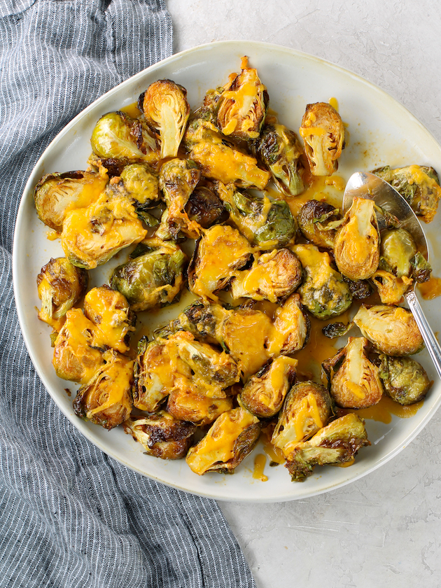 Air Fryer Buffalo Brussels Sprouts
