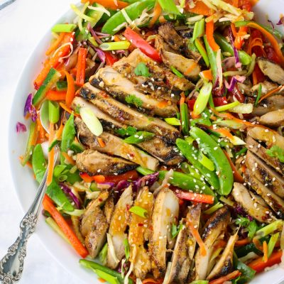 Asian Slaw With Grilled Chicken
